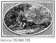 Illustration depicting death, in the form of time. Редакционное фото, агентство World History Archive / Фотобанк Лори
