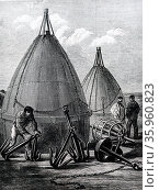 Buoys and grapnels, used to recover the 1865 Atlantic telegraph cable. Редакционное фото, агентство World History Archive / Фотобанк Лори