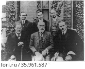 Sigmund Freud, G. Stanley Hall, C.G. Jung. Редакционное фото, агентство World History Archive / Фотобанк Лори