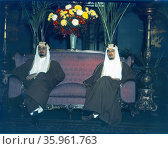 Amir Khalid and Amir Faisal, sons of King Ibn Saud of Saudi Arabia. Редакционное фото, агентство World History Archive / Фотобанк Лори