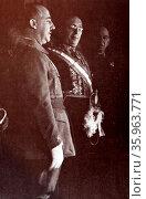 General Francisco Franco and Italian ambassador, Roberto Cantalupo. Редакционное фото, агентство World History Archive / Фотобанк Лори