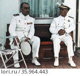 Admiral Luis Carrero Blanco, (1904 – 1973) and General Francisco Franco. Редакционное фото, агентство World History Archive / Фотобанк Лори