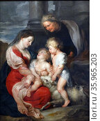 The Virgin and Child with Saint Elizabeth and Saint John the Baptist by Peter Paulus Rubens. Редакционное фото, агентство World History Archive / Фотобанк Лори