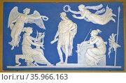 Plaque; The Apotheosis of Virgil Jasperware. Редакционное фото, агентство World History Archive / Фотобанк Лори