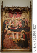 Dormition of the Virgin Mary by Pedro Garcia de Benabarre. Редакционное фото, агентство World History Archive / Фотобанк Лори