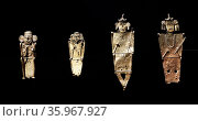 gold alloy, copper and silver votive figurines. Редакционное фото, агентство World History Archive / Фотобанк Лори