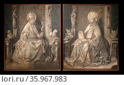 XV century. Folding doors to an organ. Редакционное фото, агентство World History Archive / Фотобанк Лори
