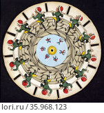 Optical illusion disc. Редакционное фото, агентство World History Archive / Фотобанк Лори