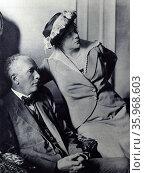 composer, Richard Strauss with his wife Pauline de Ahna. Редакционное фото, агентство World History Archive / Фотобанк Лори