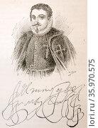 Montesclaros (Spanish: Juan de Mendoza y Luna, Marqués de Montesclaros (1571—1628), Spanish nobleman. Редакционное фото, агентство World History Archive / Фотобанк Лори