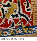 Islamic style ceramic tile. Редакционное фото, агентство World History Archive / Фотобанк Лори