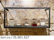 Традиционные ингредиенты для выпечки хлеба. Музей хлеба, Серпухов. Редакционное фото, фотограф Мария Кылосова / Фотобанк Лори