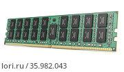 DDR ram computer memory module isolated on white. Стоковое фото, фотограф Maksym Yemelyanov / Фотобанк Лори