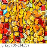 Colorful mosaic texture as a creative background. Стоковое фото, фотограф Zoonar.com/Alexander Blinov / easy Fotostock / Фотобанк Лори