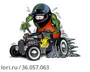 Cartoon retro rat rod. Стоковая иллюстрация, иллюстратор Александр Володин / Фотобанк Лори