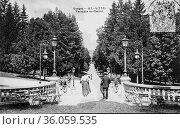 Vittel, terrace of the casino, postcard 1900. (2009 год). Редакционное фото, фотограф Louis Bertrand / age Fotostock / Фотобанк Лори