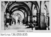 Montauban, cutlery, postcard 1900. (2009 год). Редакционное фото, фотограф Louis Bertrand / age Fotostock / Фотобанк Лори