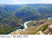 Sulak Canyon in Dagestan, Russia. Стоковое фото, фотограф Алексей Кузнецов / Фотобанк Лори