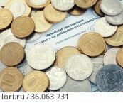Налоговая декларация по налогу на добавленную стоимость. Стоковое фото, фотограф Татьяна Т / Фотобанк Лори