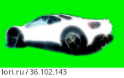 Fractal modern luxury racing car on a green background. Vehicles of... Стоковое фото, фотограф Zoonar.com/Maximilian Buzun / easy Fotostock / Фотобанк Лори