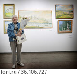 Открытие выставки художницы Людмилы Маймистовой в Балашихинской картинной галерее. Редакционное фото, фотограф Дмитрий Неумоин / Фотобанк Лори