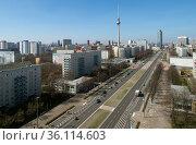 """Berlin, Germany, Mitte - City view of the City East"" Редакционное фото, агентство Caro Photoagency / Фотобанк Лори"