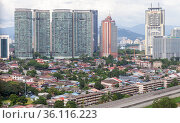 Kuala Lumpur downtown view (2019 год). Редакционное фото, фотограф EugeneSergeev / Фотобанк Лори
