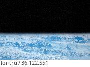 Black space above clouds of Earth. Cosmic landscape. Beautiful space... Стоковое фото, фотограф Zoonar.com/Alexmak7 / easy Fotostock / Фотобанк Лори