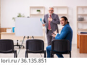 Two male employees in business meeting concept. Стоковое фото, фотограф Elnur / Фотобанк Лори