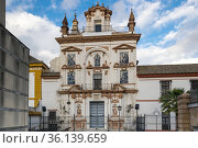 View of the church in Seville (2019 год). Редакционное фото, фотограф Юлия Белоусова / Фотобанк Лори