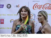 Vladimir Luxuria attends at the Pride 2021 in Piazza Dante Alighieri... Редакционное фото, фотограф Fabio Sasso / AGF/Fabio Sasso / AGF / age Fotostock / Фотобанк Лори