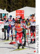 Auf die Plätze, fertig los: Jarl Magnus Riiber (Norwegen) beim Weltcup... Стоковое фото, фотограф Zoonar.com/Joachim Hahne / age Fotostock / Фотобанк Лори