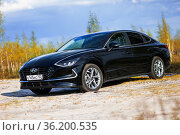 Hyundai Sonata. Редакционное фото, фотограф Art Konovalov / Фотобанк Лори