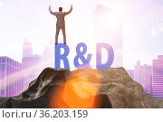 Research and development concept with businessman. Стоковое фото, фотограф Elnur / Фотобанк Лори