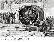 The rolling barrel of the Brussels 1888 exhibition, Belgium. Europe... Редакционное фото, фотограф Jerónimo Alba / age Fotostock / Фотобанк Лори