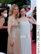 Sandrine Kiberlain and Rebecca Marder attends the 'Benedetta' screening... Редакционное фото, фотограф ATP / WENN / age Fotostock / Фотобанк Лори