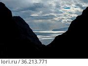 Beautiful view on atlantic ocean with silvery waters from Masca village... Стоковое фото, фотограф Zoonar.com/Svetlana Mandrikova (@Svetography) / easy Fotostock / Фотобанк Лори