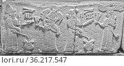 Wall Frieze Neo Hittites Ankara Turkey. Стоковое фото, фотограф Zoonar.com/Graham Mulrooney / age Fotostock / Фотобанк Лори
