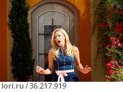 Stefanie Hertel (Sängerin) in der ARD-TV-Show 12. Folge 2018. Стоковое фото, фотограф Zoonar.com/Joachim Hahne / age Fotostock / Фотобанк Лори