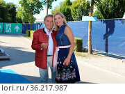 Stefanie Hertel und Eberhard Hertel (Sänger / Sängerin / Vater / ... Стоковое фото, фотограф Zoonar.com/Joachim Hahne / age Fotostock / Фотобанк Лори