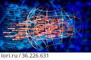Programmiercode und globales Netzwerk mit Technologie Hintergrund. Стоковое фото, фотограф Zoonar.com/ironjohn / easy Fotostock / Фотобанк Лори
