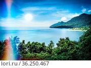 Blick auf die berühmte Damai-Bucht im Süd-Westen Borneos, Malaysia... Стоковое фото, фотограф Zoonar.com/Simone Buehring / easy Fotostock / Фотобанк Лори