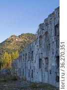 Das Ex Forte di Busa Verle ist eine militärische Anlage aus dem 1... Стоковое фото, фотограф Zoonar.com/Eder Christa / easy Fotostock / Фотобанк Лори