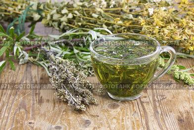Полынь горькая (Artemisia absinthium L. ) чайный напиток. Полынь применяется в народной медицине,кулинарии,парфюмерной промышленности.