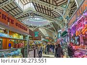 Indoor Market,Valencia Old Town, Spain. Стоковое фото, фотограф Zoonar.com/Graham Mulrooney / age Fotostock / Фотобанк Лори