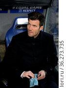 Cheftrainer Raphael Wicky (FC Basel) musste die Brille putzen um ... Стоковое фото, фотограф Zoonar.com/Joachim Hahne / age Fotostock / Фотобанк Лори