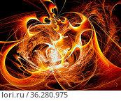 Chaos curls - abstract computer-generated image. Esoteric, mystical... Стоковое фото, фотограф Zoonar.com/Olga Gavrilenko / easy Fotostock / Фотобанк Лори