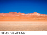 Dry and desolate landscape in southern part of bolivian Altiplano... Стоковое фото, фотограф Zoonar.com/Pawel Opaska / easy Fotostock / Фотобанк Лори