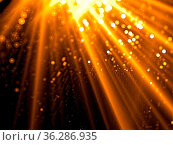 Rays and bubbles - abstract computer-generated image. Technology or... Стоковое фото, фотограф Zoonar.com/Olga Gavrilenko / easy Fotostock / Фотобанк Лори