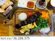 Turkish eggplant kebab. Middle eastern cuisine. Стоковое фото, фотограф Яков Филимонов / Фотобанк Лори